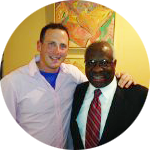 Jef with U.S. Supreme Court Justice Clarence Thomas